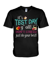 It's test day y'all V-Neck T-Shirt thumbnail