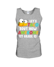 LET'S TACO BOUT HOW AWESOME 1ST GRADE IS Unisex Tank thumbnail