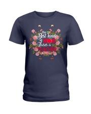 Mom raises a Teacher Ladies T-Shirt thumbnail
