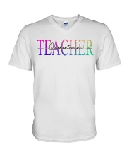 Teacher Quaranteach V-Neck T-Shirt thumbnail