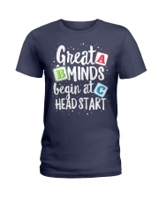 GREAT MINDS BEGIN AT HEAD START Ladies T-Shirt tile