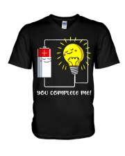 Science - you complete me V-Neck T-Shirt thumbnail