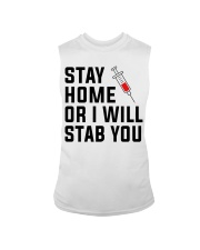 Stay Home or i will STAB YOU Sleeveless Tee thumbnail