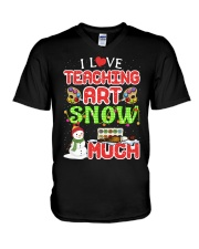 I LOVE TEACHING ART SNOW MUCH  V-Neck T-Shirt thumbnail