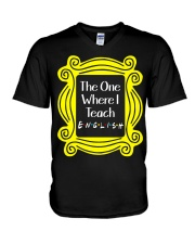 I Teach English V-Neck T-Shirt thumbnail