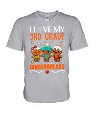 I LOVE MY 3RD GRADE GINGERBREADS V-Neck T-Shirt thumbnail