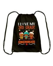 I LOVE MY 3RD GRADE GINGERBREADS Drawstring Bag thumbnail