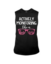 Actively monitoring like a boss Sleeveless Tee tile