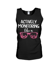 Actively monitoring like a boss Unisex Tank thumbnail