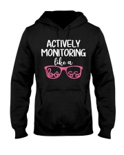 Actively monitoring like a boss Hooded Sweatshirt thumbnail