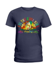 ALL THE COOL KIDS ARE CREATING ART Ladies T-Shirt thumbnail