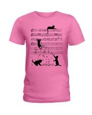 Cat Music Ladies T-Shirt tile