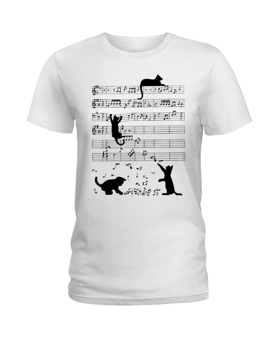 Cat Music Ladies T-Shirt