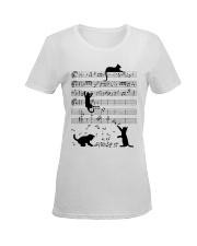 Cat Music Ladies T-Shirt women-premium-crewneck-shirt-front
