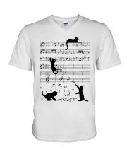 Cat Music V-Neck T-Shirt thumbnail