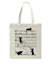 Cat Music Tote Bag thumbnail