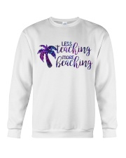 Less teaching more beaching Crewneck Sweatshirt thumbnail