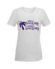 Less teaching more beaching Ladies T-Shirt women-premium-crewneck-shirt-front