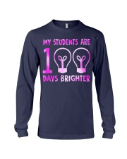 MY STUDENTS ARE 100 DAYS BRIGHTER Long Sleeve Tee thumbnail