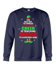 SPREAD CHRISTMAS CHEER IS TEACHING MUSIC Crewneck Sweatshirt tile