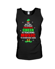 SPREAD CHRISTMAS CHEER IS TEACHING MUSIC Unisex Tank thumbnail