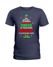 SPREAD CHRISTMAS CHEER IS TEACHING MUSIC Ladies T-Shirt tile