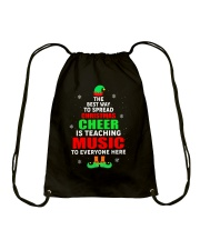 SPREAD CHRISTMAS CHEER IS TEACHING MUSIC Drawstring Bag tile