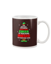 SPREAD CHRISTMAS CHEER IS TEACHING MUSIC Mug tile
