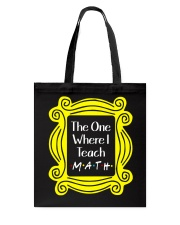 I Teach Math Tote Bag front