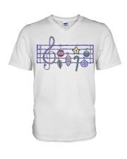 MUSIC V-Neck T-Shirt thumbnail