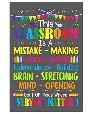 Teacher Poster 24x36 Poster front