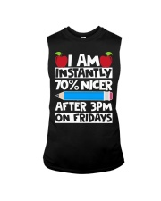 I AM INSTANTLY 70 NICER AFTER 3PM ON FRIDAYS Sleeveless Tee thumbnail