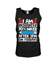 I AM INSTANTLY 70 NICER AFTER 3PM ON FRIDAYS Unisex Tank thumbnail