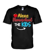 Alexa Homeschool the KIDS V-Neck T-Shirt thumbnail