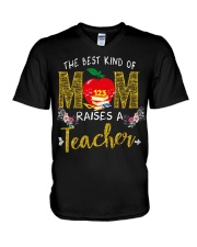 The best kind Of Mom - Teacher V-Neck T-Shirt thumbnail