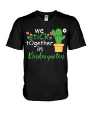 We Stick together in Kindergarten V-Neck T-Shirt thumbnail