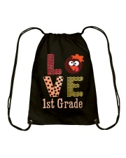 1ST GRADE LOVE Drawstring Bag tile