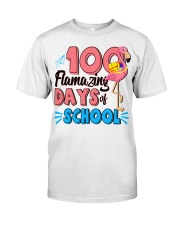 100 FLAMAZING DAYS OF SCHOOL Classic T-Shirt front