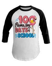 100 FLAMAZING DAYS OF SCHOOL Baseball Tee thumbnail