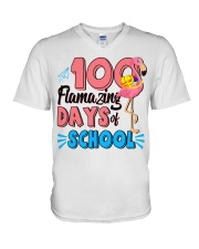 100 FLAMAZING DAYS OF SCHOOL V-Neck T-Shirt thumbnail