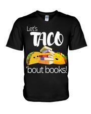 LET'S TACO 'BOUT BOOKS V-Neck T-Shirt thumbnail