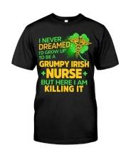 Grumpy Irish Nurse Classic T-Shirt front