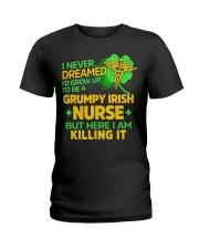 Grumpy Irish Nurse Ladies T-Shirt thumbnail
