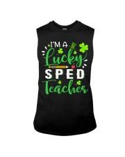 I'm a lucky SPED Teacher Sleeveless Tee thumbnail