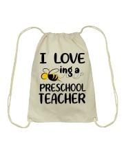 I Love being a preschool Teacher Drawstring Bag thumbnail