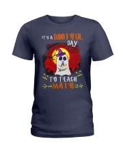 Bootiful Day To Teach Math Ladies T-Shirt thumbnail