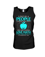 5 OUT OF 4 PEOPLE STRUGGLE WITH MATH  Unisex Tank tile