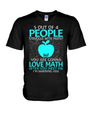 5 OUT OF 4 PEOPLE STRUGGLE WITH MATH  V-Neck T-Shirt tile