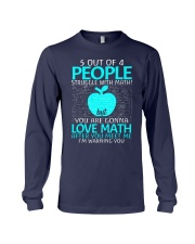 5 OUT OF 4 PEOPLE STRUGGLE WITH MATH  Long Sleeve Tee tile