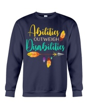 ABILITIES OUTWEIGH DISABILITIES Crewneck Sweatshirt thumbnail